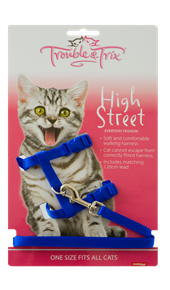 Cat Harness - Red or Blue