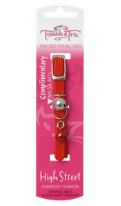 Cat Collar with Stretch and Bell - Various Colours