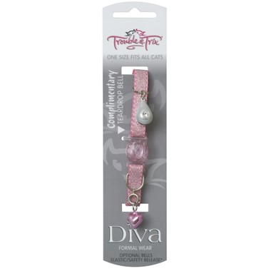 Cat Collar - Diva with Teardrop Bell